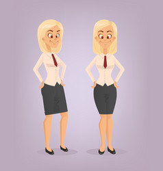office worker woman character set vector image vector image