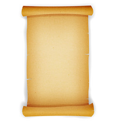 Old textured parchment scroll vector