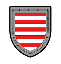 shield badge symbol vector image vector image