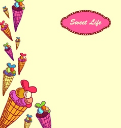 Sweet life-3 vector image vector image