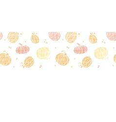 thanksgiving pumpkins textile horizontal border vector image