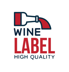 wine label high quality product logo design vector image vector image