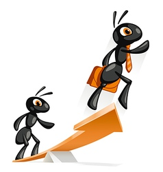 Ant Jump Up vector image