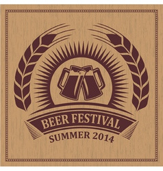 Beer festival icon vector image
