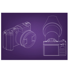 camera on purple vector image