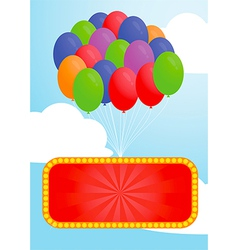 Colorful balloon and Advertising billboard vector image vector image