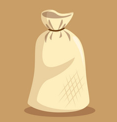 flour bag isolated icon vector image vector image