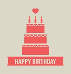 Happy Birthday Cake vector image vector image