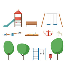 playground outdoor equipment vector image vector image