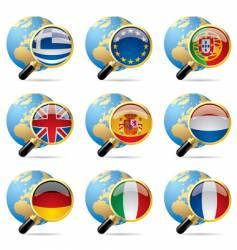 world flag icons vector image