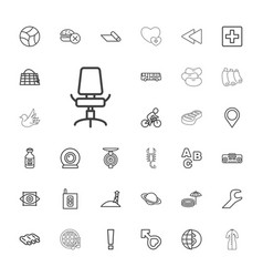 33 blue icons vector