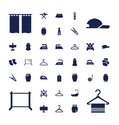 37 cloth icons vector
