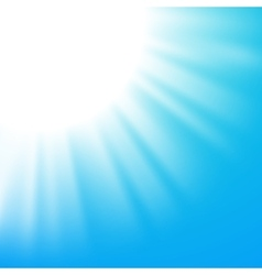 Abstract background with sun on blue sky vector