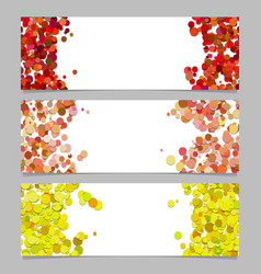 abstract banner template set with colored dots vector image