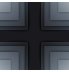 Abstract dark gray paper rectangle shapes vector image