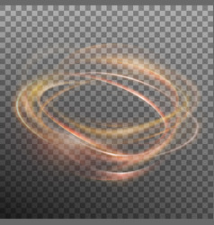 abstract glowing ring on transparent backfround vector image