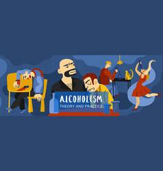 Alcohol addiction vector