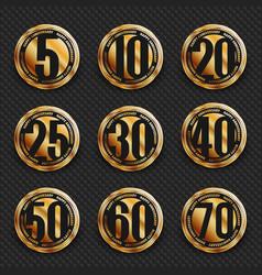 Anniversary logo collection vector
