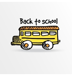 Back to school background with yellow vector image