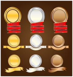Banner goldsilvercopper vector