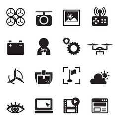 Basic drone icons vector