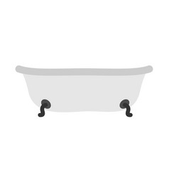 bath isolated bathroom object on white background vector image