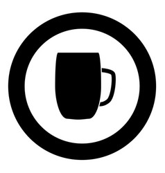 beer mug icon black color in circle vector image
