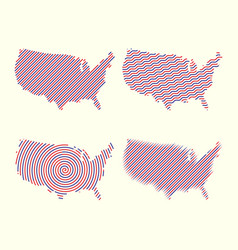 big set high detailed maps and globes pins vector image