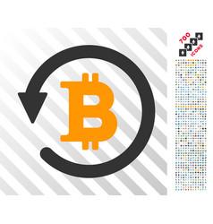 Bitcoin chargeback flat icon with bonus vector