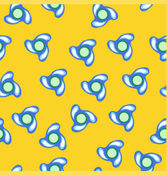 blue spinner with drops pattern vector image