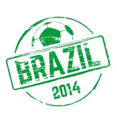 Brazil 2014 grunge rubber stamp vector image