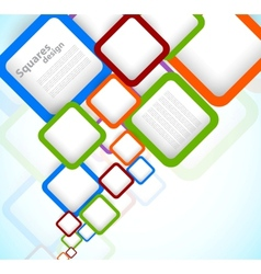 Bright colorful background with squares vector image