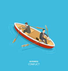 Business conflict flat isometric low poly concept vector