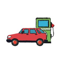 Car and bio fuel pump vector