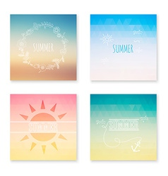 Cards collection of summer colored abstract vector image