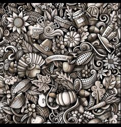cartoon cute doodles hand drawn happy vector image