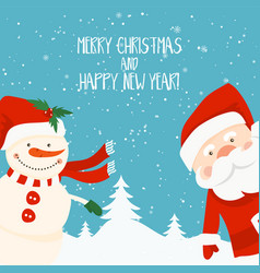Cartoon for holiday theme with santa claus and vector