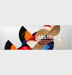 circle abstract geometric background color vector image
