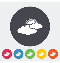 Cloudiness single flat icon vector image vector image