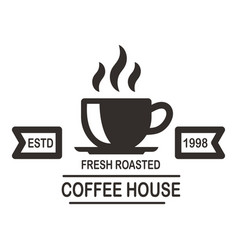 coffee house emblem template design element for vector image
