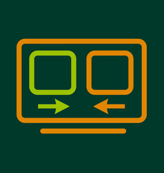 Computer translation icon outline style vector