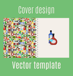 cover design with bar drinks vector image