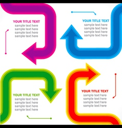 creative arrow business info-graphics design vector image