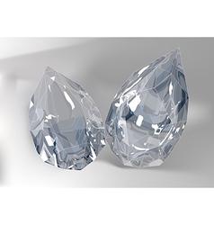Cut of gemstones pear cut vector