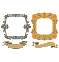 Decorative hand drawn frames vector