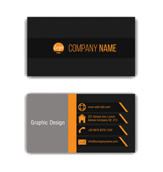 design business card template vector image