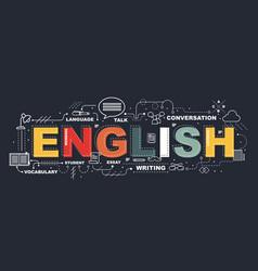 Design concept word english website banner vector