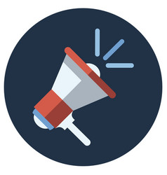 digital marketing megaphone in blue circle vector image