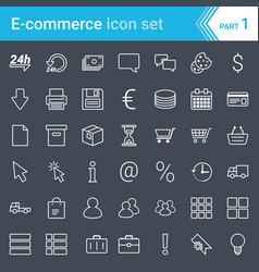 ecommerce icons isolated on dark background vector image
