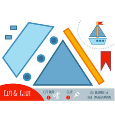 education paper game for children yacht vector image